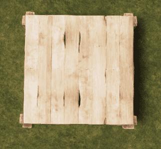 Деревянный квадратный фундамент в Rust