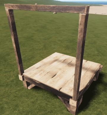 Деревянный настенный каркас в Rust
