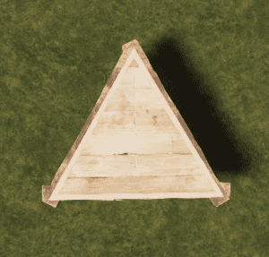 Деревянный треугольный фундамент в Rust