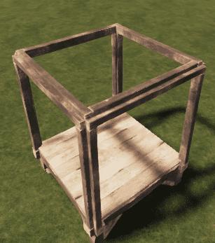 Деревянный потолочный каркас в Rust