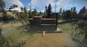 Здание казино в городе бандитов в Rust