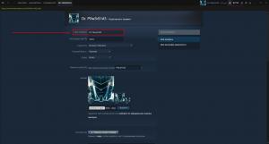Имя профиля в Steam