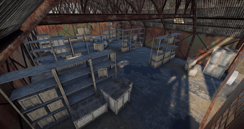 Интерьер второго ангара на РТ Аэродром в Rust