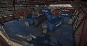 Интерьер первого ангара на РТ Аэродром в Rust