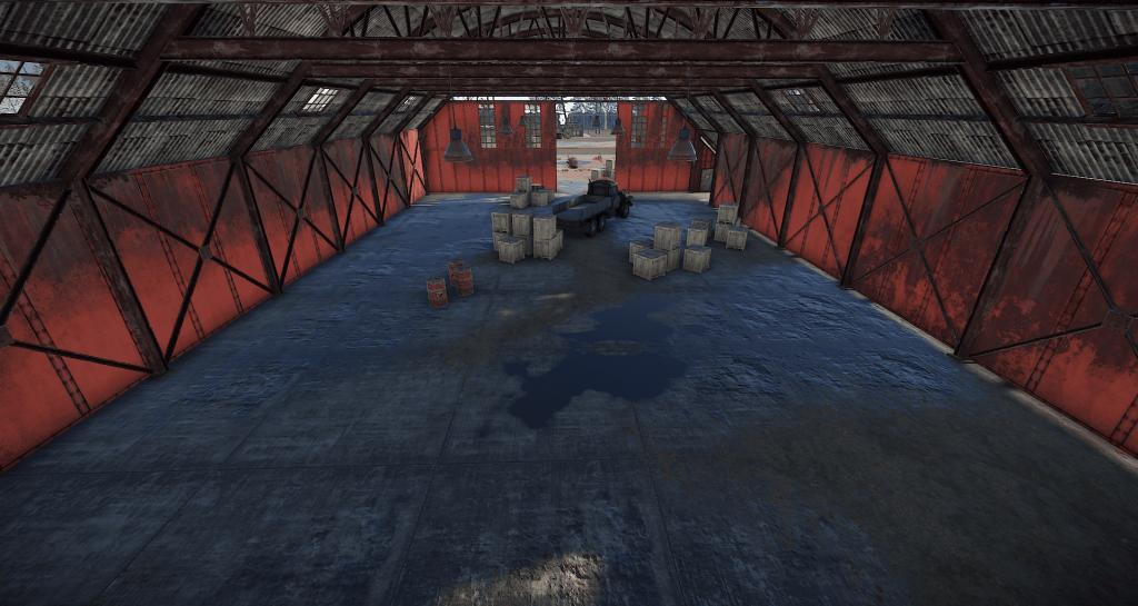 Интерьер третьего ангара на РТ Аэродром в Rust