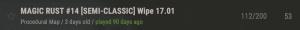 Информация о вайпе в названии сервера в Rust