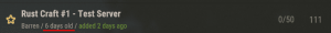 Информация о количестве дней, прошедших с начала вайпа в Rust