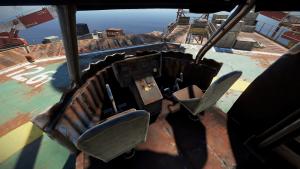 Кабина пилотов транспортного вертолёта в Rust