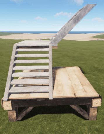Каменная L-образная лестница в Rust