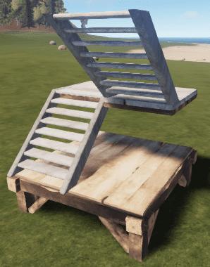 Каменная U-образная лестница в Rust
