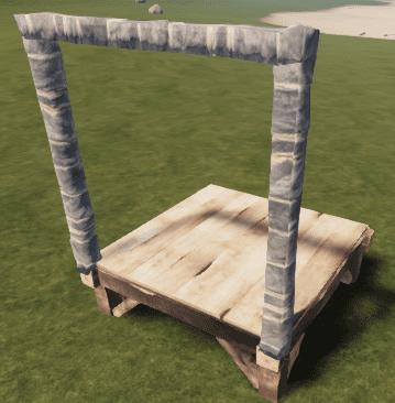 Каменный настенный каркас в Rust
