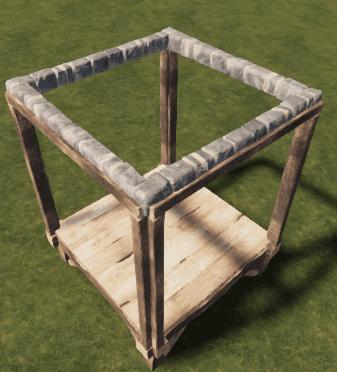 Каменный потолочный каркас в Rust