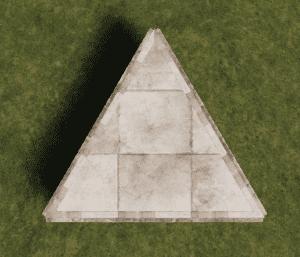 Каменный треугольный фундамент в Rust