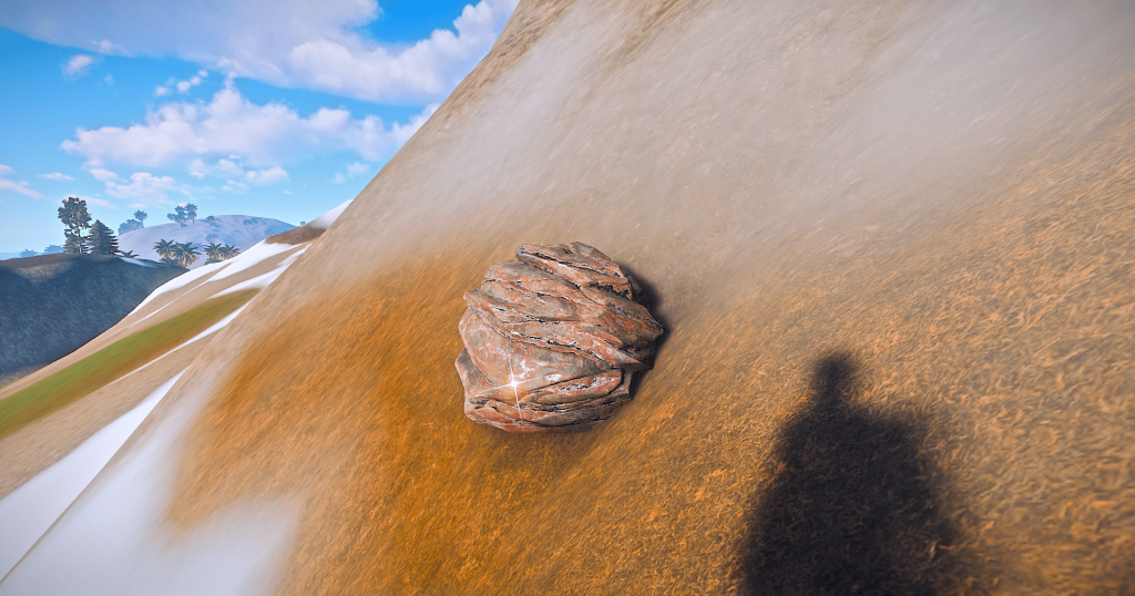 Камень с железной рудой в Rust
