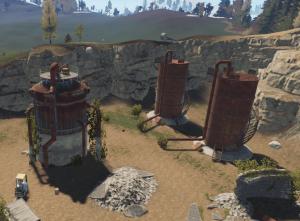 Коллектор и водяные вышки водоочистной станции в Rust