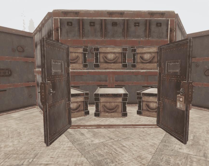 Лутовая из полу стенок в Rust