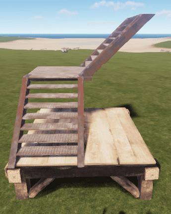 Металлическая L-образная лестница в Rust