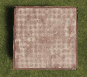 Металлический квадратный фундамент в Rust