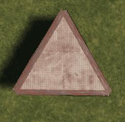 Металлический треугольный фундамент в Rust