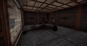 Миникоптер в гараже в Rust