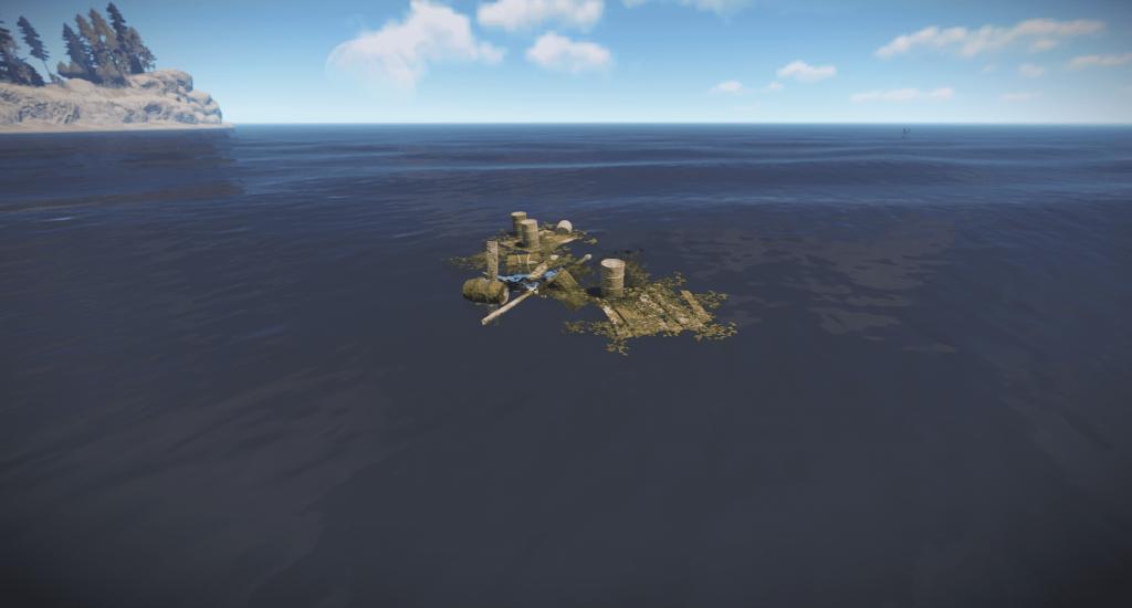 Мусор в океане в Rust