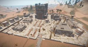 Офисы, склады и завод на РТ Космодром в Rust