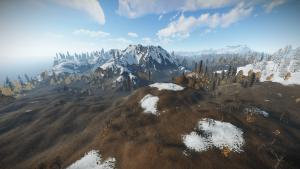 Пейзаж Barren карты в Rust