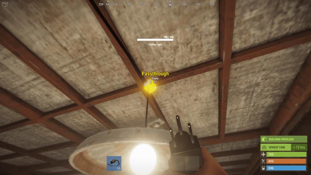 Передача энергии из первого светильника в Rust