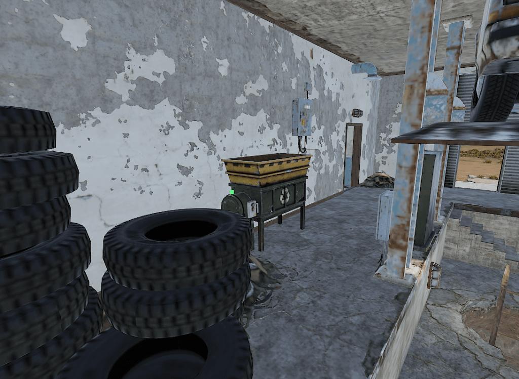 Переработчик в мастерской заправки в Rust