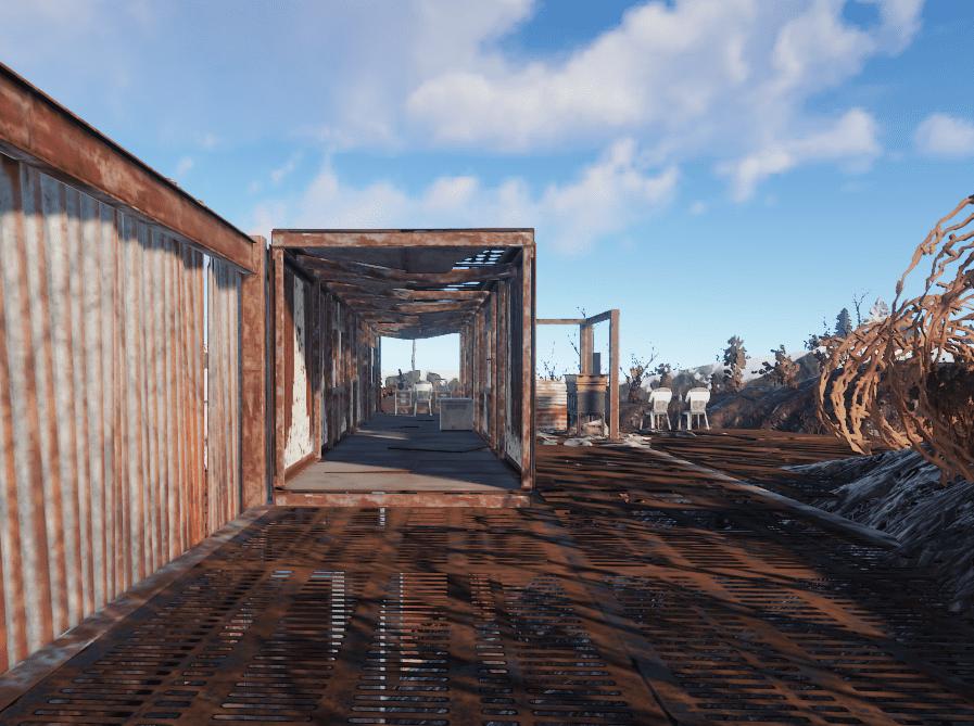 Переработчик в наблюдательном пункте на РТ Свалка в Rust