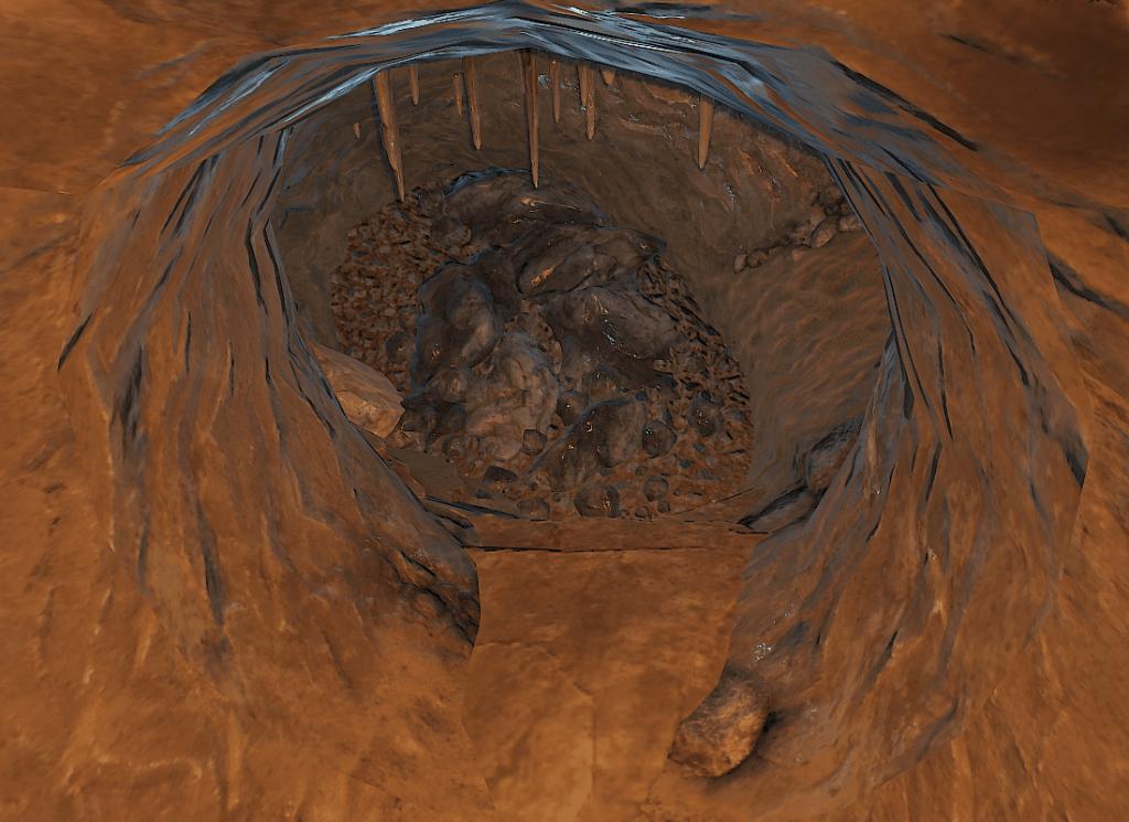 Пещера под заправкой в Rust