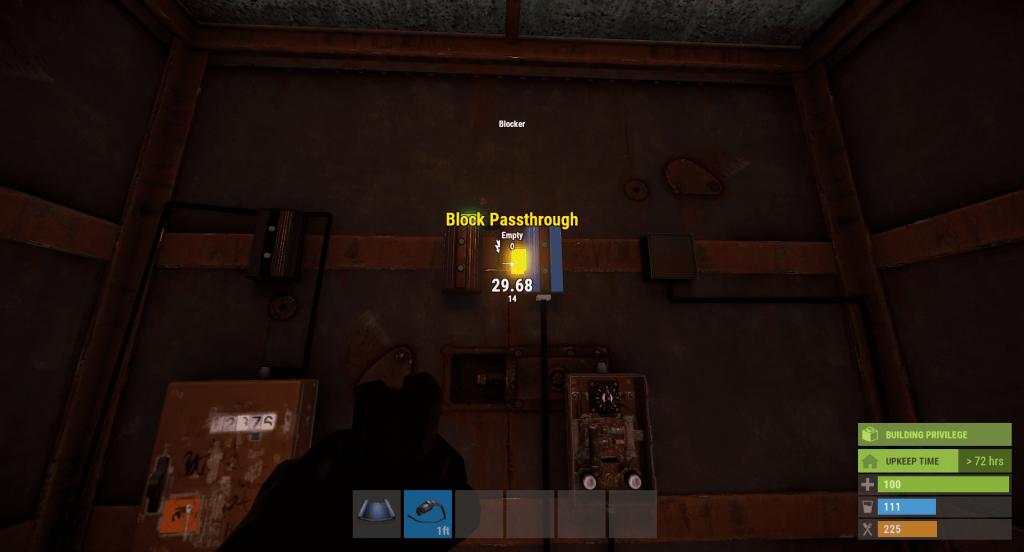 Подача энергии на боковой разъём блокатора в Rust