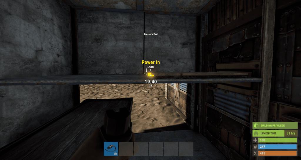 Подача энергии на нажимную плиту в Rust