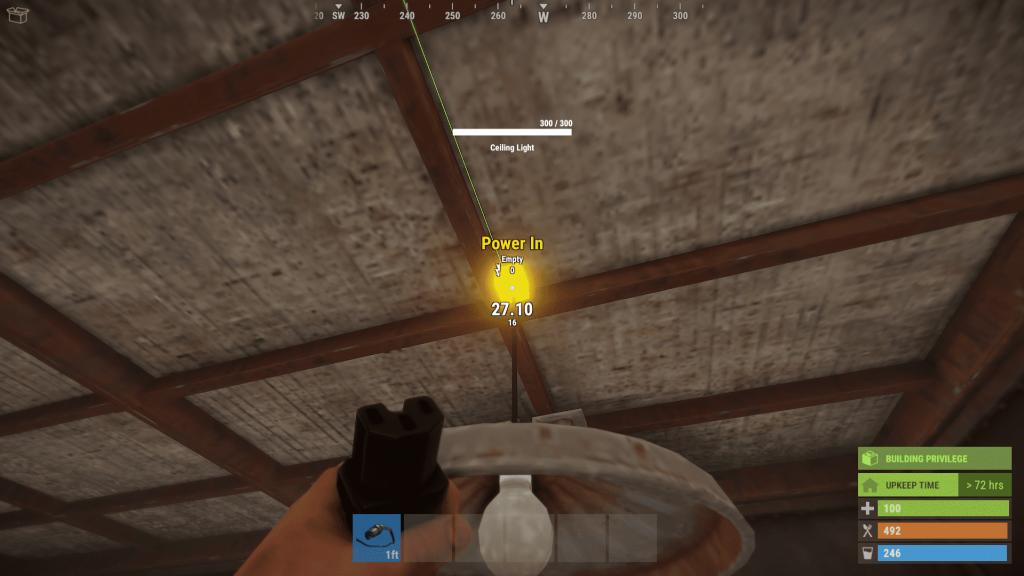 Подключение второго потолочного светильника в Rust
