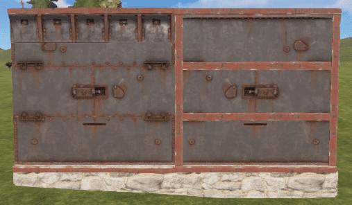 Правильная и неправильная бронированная стена в Rust