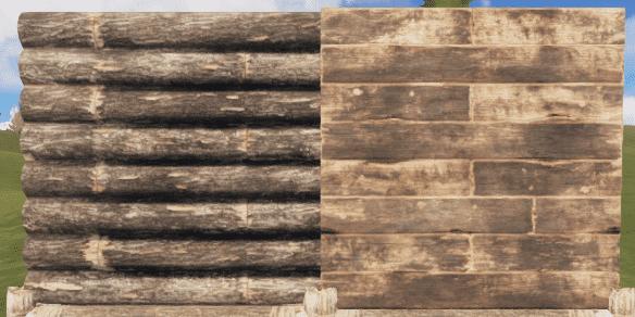 Правильная и неправильная деревянная стена в Rust