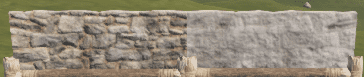 Правильная и неправильная каменная низкая стенка в Rust