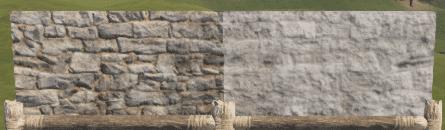 Правильная и неправильная каменная полустенка в Rust