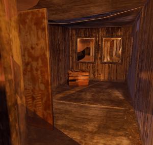 Примитивный ящик в кабине на складе в Rust