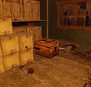 Примитивный ящик на складе в Rust