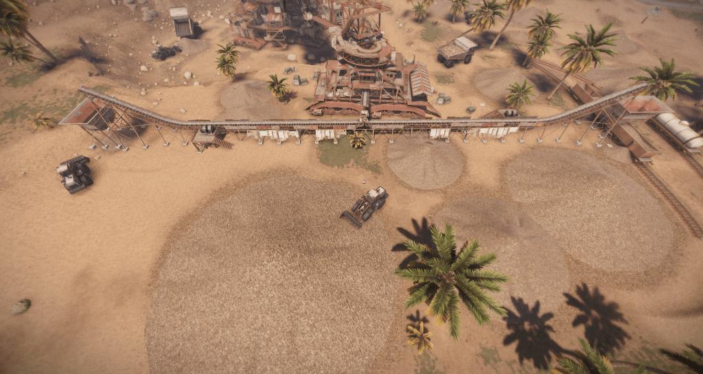 Пункты выдачи добытых экскаватором ресурсов в Rust