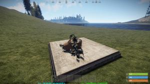 Разрушенная турель в Rust