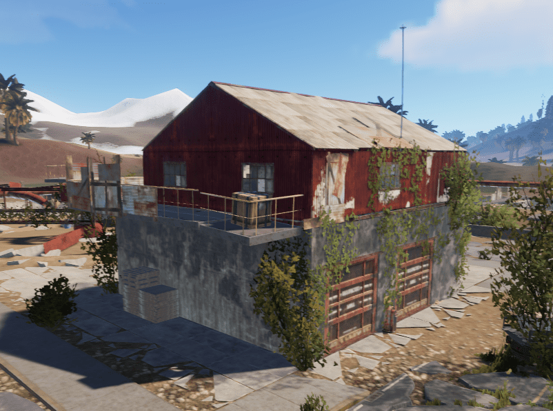 Складское здание водоочистной станции в Rust