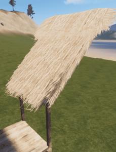 Соломенная крыша в Rust