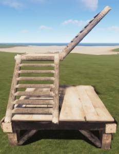 Соломенная L-образная лестница в Rust