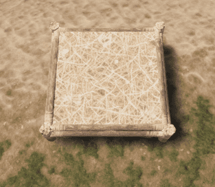 Соломенный квадратный фундамент в Rust