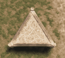 Соломенный треугольный фундамент в Rust