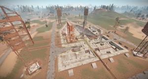 Стартовая площадка на РТ Космодром в Rust