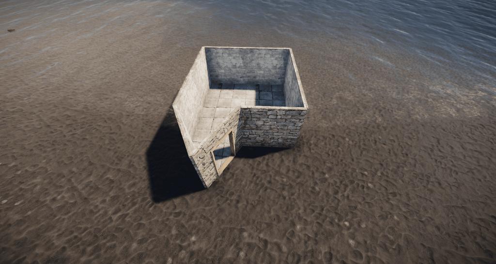 Стены и дверной каркас дома-ловушки в Rust