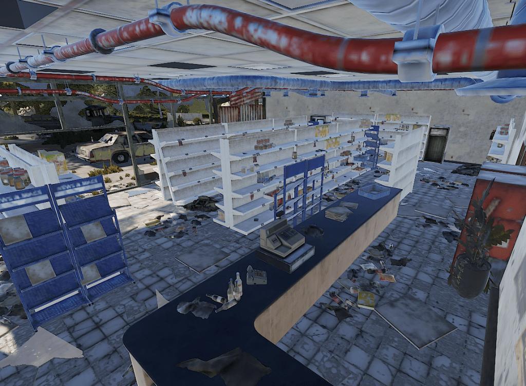 Торговое помещение супермаркета в Rust